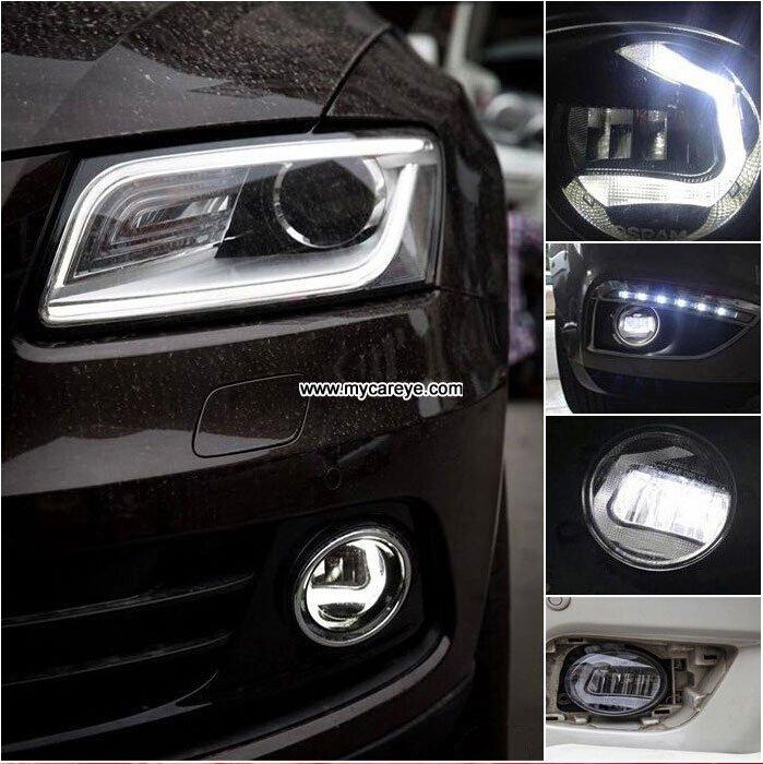 Opel Astra h car front fog light LED DRL driving lights