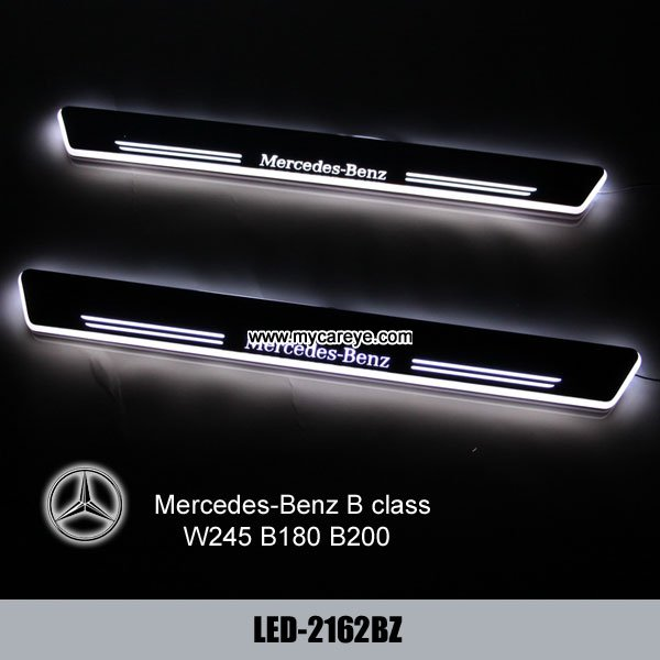Mercedes benz w245 b180 b200 car welcome door scuff led for Mercedes benz door lights